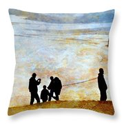They Gather Here Throw Pillow by Diana Angstadt