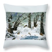 They Said It Wouldn't Snow Throw Pillow
