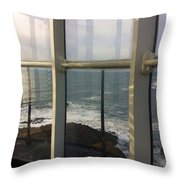 Through Lighthouse Window  Throw Pillow