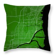 Thunder Bay Street Map - Thunder Bay Canada Road Map Art On Colo Throw Pillow