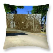 Thursday Thrift Shop And The Commons In Little Compton Rhode Island Throw Pillow