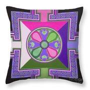 Tibetan Mandala Throw Pillow