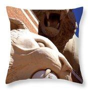 2 Tigers At Comerica Park Throw Pillow