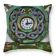 Time Throw Pillow by Skip Hunt