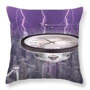 Time Travelers Throw Pillow by Mike McGlothlen