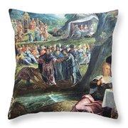 Tintoretto's The Worship Of The Golden Calf Throw Pillow