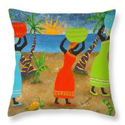 To Market Throw Pillow