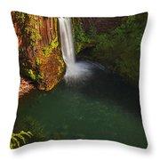 Toketee Falls - Oregon Throw Pillow