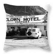 Tonopah Nevada - Clown Motel Throw Pillow