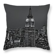 Top Of The Rock Bw Throw Pillow