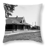 Toppenish Train Station Throw Pillow