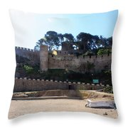 Tossa De Mar Costa Brava Throw Pillow
