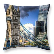 Tower Bridge And The City Throw Pillow