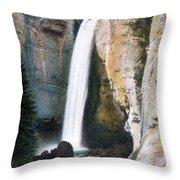 Tower Falls Yellowstone National Park Throw Pillow