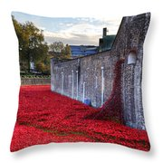 Tower Of London Poppies Throw Pillow