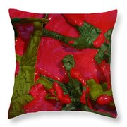 Toy Soldiers In A Pool Of Blood Throw Pillow