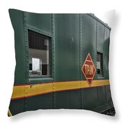 Tpw Rr Caboose Side View Throw Pillow