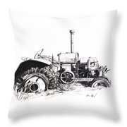 Tractor Throw Pillow by Aaron Spong