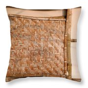 Traditional Chinese Bamboo Structure Throw Pillow