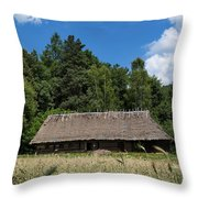 Traditional Polish Cottage House Throw Pillow