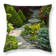 Tranquil Garden  Throw Pillow