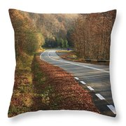 Transfagarasan Road Carpathian Mountains Romania  Throw Pillow
