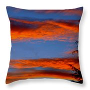 Tree In Sunset Throw Pillow