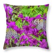 2 Tree Nymph Butterflies Throw Pillow