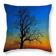 Tree Skeleton Throw Pillow