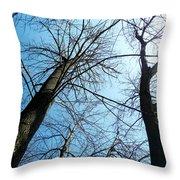 2 Trees Throw Pillow