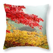 Trees In A Garden, Butchart Gardens Throw Pillow