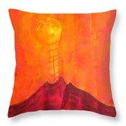 Tres Orejas Original Painting Throw Pillow