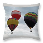 Trio Of Balloons  Throw Pillow