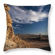 Trona Pinnacles Throw Pillow