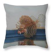 Tropical Lion Fish Throw Pillow