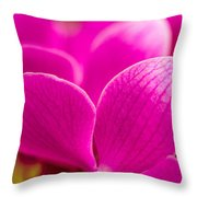 Tropical Orchid Flower Blossoms Throw Pillow