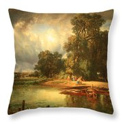 Troyon's The Approaching Storm Throw Pillow