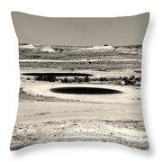 Desert Golf Throw Pillow