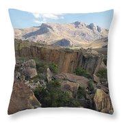 Tsaranoro Mountains Madagascar 1 Throw Pillow