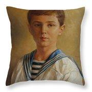 Tsarevich Alexei Of Russia Throw Pillow
