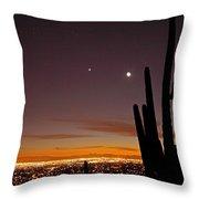 Tucson At Dusk Throw Pillow