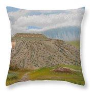Tucumcari Mountain Reflections On Route 66 Throw Pillow