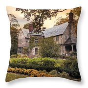 Tudor In Autumn Throw Pillow
