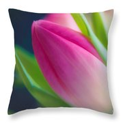 Tulip Throw Pillow by Sylvia  Niklasson