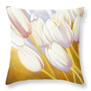 Tulips Are People Xii Throw Pillow