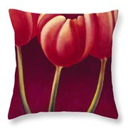 Tulips Are People Xiv Throw Pillow