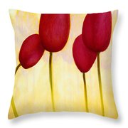 Tulips Are People Xv Throw Pillow