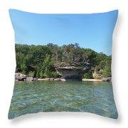 Turnip Rock Throw Pillow