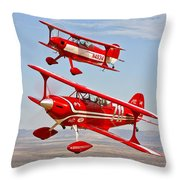 Two Pitts Special S-2a Aerobatic Throw Pillow