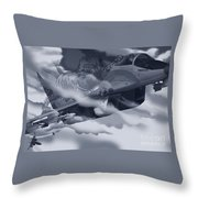 Two-tailed Tomcat Throw Pillow